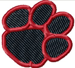 Angled Paw Print embroidery design