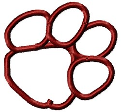 Open Paw Outline embroidery design