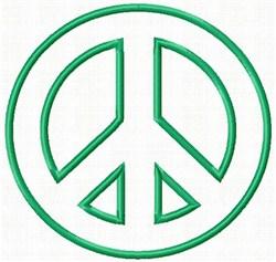 Peace Applique embroidery design