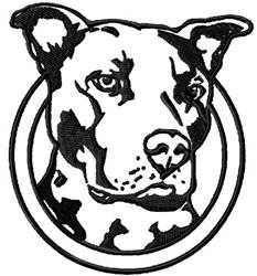 Open Pitbull embroidery design
