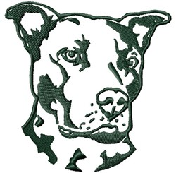 Pit Bull Head embroidery design