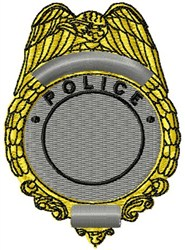Police Badge embroidery design