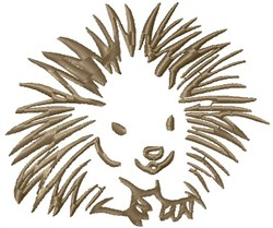 Porcupine Outline embroidery design