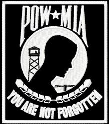 POW MIA embroidery design