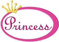 Princess Oval embroidery design