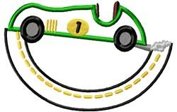 Appliqué Racecar embroidery design