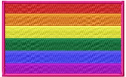 Rainbow Flag embroidery design