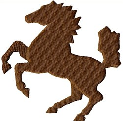 Rearing Stallion embroidery design