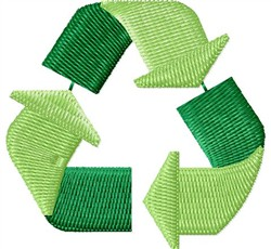 Recycle Symbol embroidery design