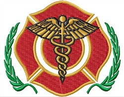 Blank Medical Badge embroidery design