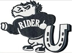 Rider U Mascot embroidery design