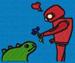 RoboLove embroidery design