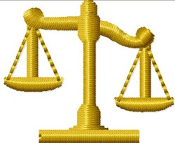 Law Scales embroidery design