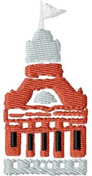 Brick Building embroidery design