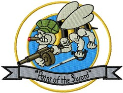 Seabees Sert Sword embroidery design