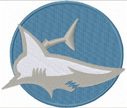Shark Patch embroidery design