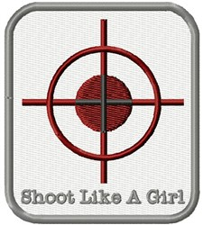 Shooter Target embroidery design