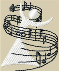 Singer with Notes embroidery design