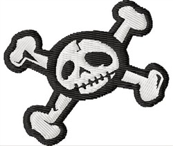 Skull & Bones embroidery design