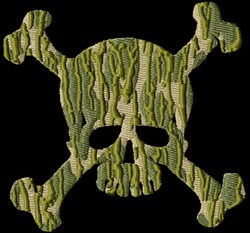Skull Camouflage embroidery design