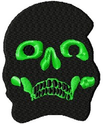Scary Skull embroidery design