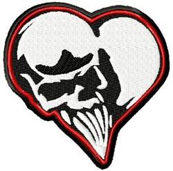 Skull Heart embroidery design