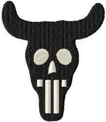 Skull Horns embroidery design