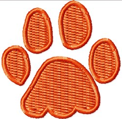 Small Paw embroidery design