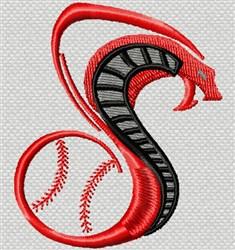 Cobra Snake Baseball embroidery design