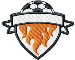 Soccer Shield embroidery design
