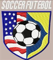 Soccer Futebol Emblem embroidery design