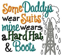 Hard Hat & Boots embroidery design