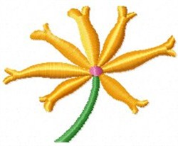 Spike Flower embroidery design