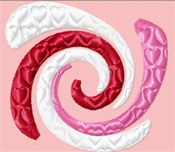 Hearts Spiral embroidery design