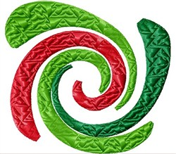 Xmas Tree Spiral embroidery design