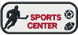 Sports Center Blank embroidery design