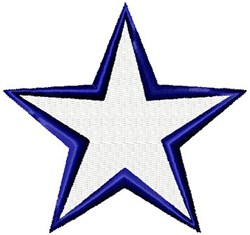 Large Star embroidery design