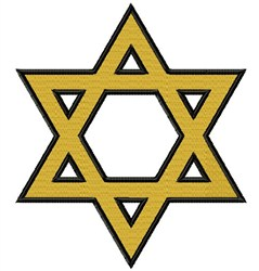 Large Star Of David embroidery design