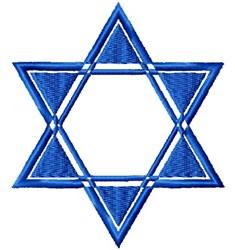Geometric Star Of David embroidery design