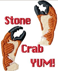 Stone Crab Claws embroidery design