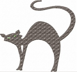 Arched Cat embroidery design