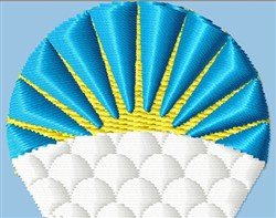 Sunburst Stylized embroidery design