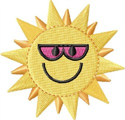 Cool Sun embroidery design