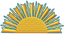 Sunny embroidery design