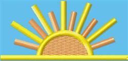 Sunrise embroidery design