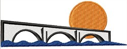 Sunset Bridge embroidery design