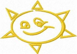 Sun Smile embroidery design