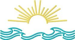 Sun & Surf embroidery design