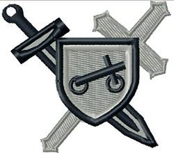 Swords & Shield embroidery design