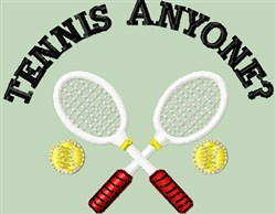 Tennis Anyone? embroidery design